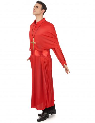 Kardinal Kostüm für Erwachsene - rot-1
