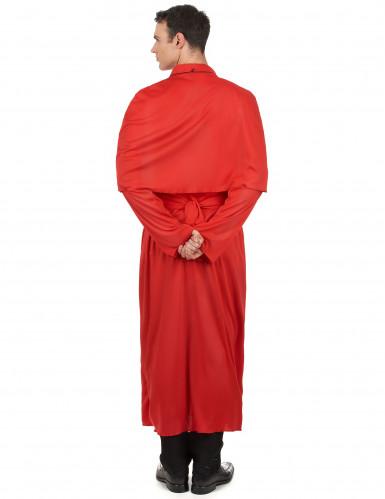 Kardinal Kostüm für Erwachsene - rot-2