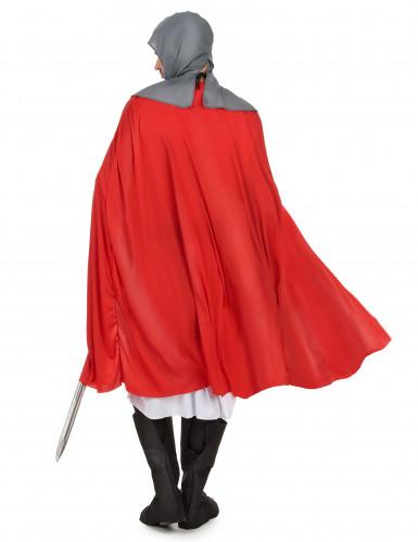 Kreuzritter Kostüm für Herren grau-rot-weiss-2