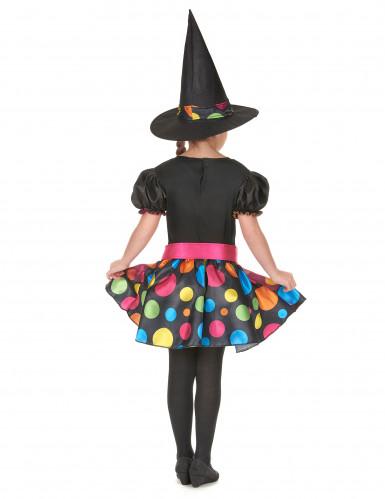 Magisches Hexen Kostüm für Mädchen schwarz-bunt-2