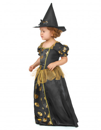 Schwarz-gold Hexen Kostüm-1