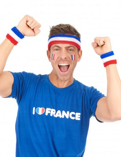Frankreich Fan Armbänder und Stirnband-1