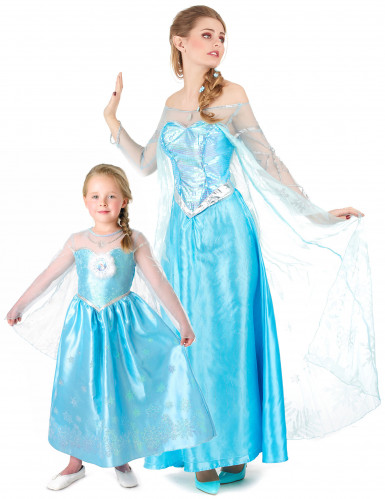 Paar Kostüm Elsa Frozen™ für Mutter und Tochter