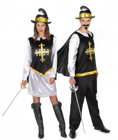 Kostüm-Set Musketiere für Paare