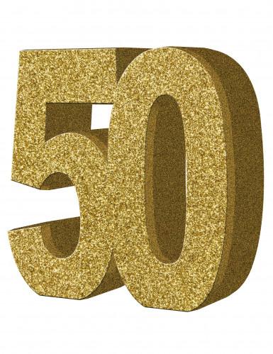 Tisch-Dekoration - Zahl 50 - Gold