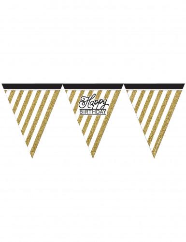 Wimpel-Girlande - schwarz-gold