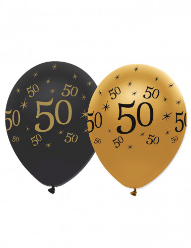 6 Luftballons 50. Geburtstag