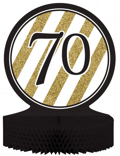 Tisch-Aufsteller - Zahl 70 - gold-schwarz