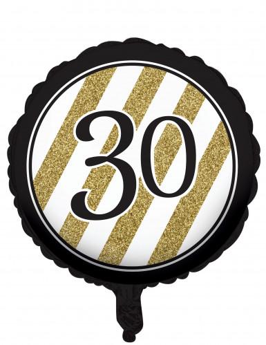 Aluminium-Ballon zum 30. Geburtstag schwarz 46 cm