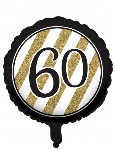 Ballon zum 60. Geburtstag schwarz 46 cm