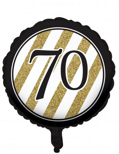 Aluminium-Ballon zum 70. Geburtstag schwarz 46 cm