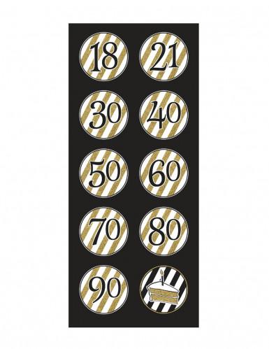 5 Hängespiralen Happy Birthday - gold-schwarz-1