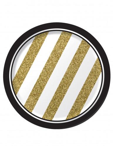 8 Teller - Gold und schwarz