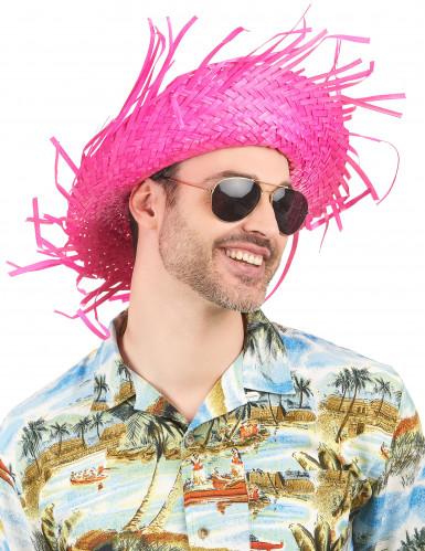 Rosafarbener Hawaii Hut für Erwachsene-1
