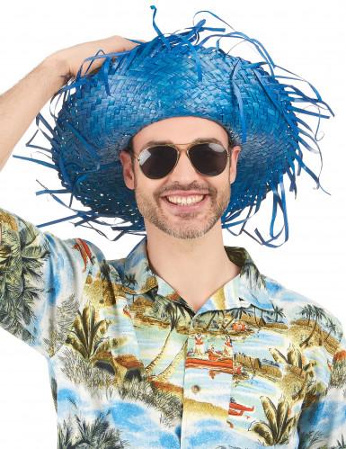 Blauer Hawaii Hut für Erwachsene-1