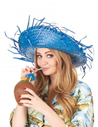 Blauer Hawaii Hut für Erwachsene-2
