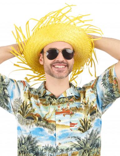 Gelber Hawaii-Hut für Erwachsene-1