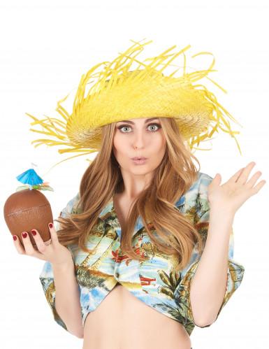 Gelber Hawaii-Hut für Erwachsene-2