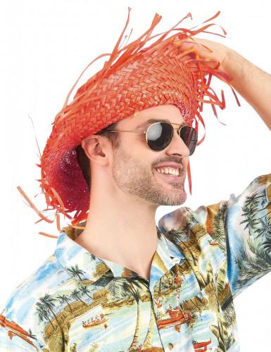 Oranger Hawaii-Hut für Erwachsene-1