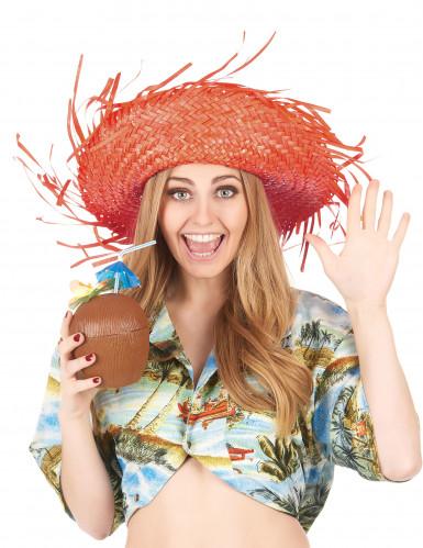 Oranger Hawaii-Hut für Erwachsene-2