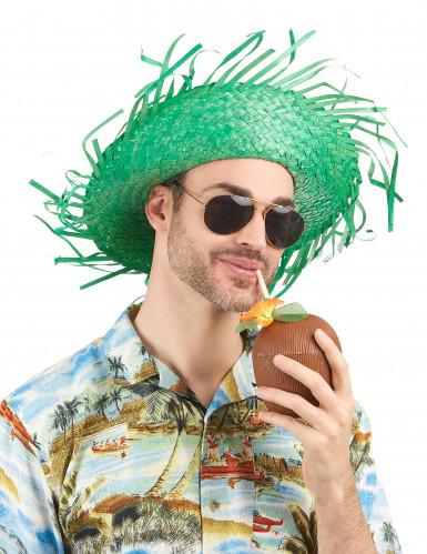 Grüner Hawaii-Hut für Erwachsene-1