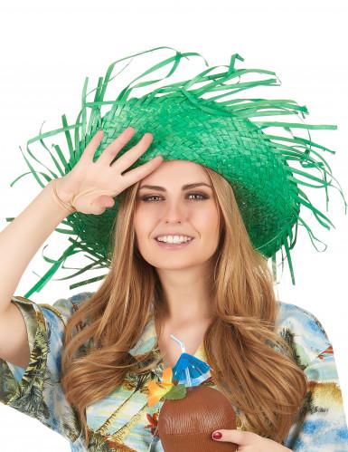Grüner Hawaii-Hut für Erwachsene-2