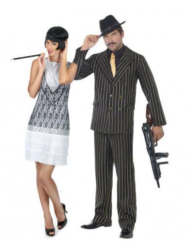 Paarkostüm Charleston & Gangster für Erwachsene