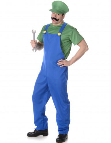 Grünes Klempner Kostüm für Herren