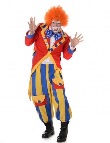 Verrücktes Clown Kostüm für Herren bunt