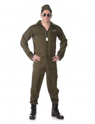 Jagdpiloten Kostüm für Herren
