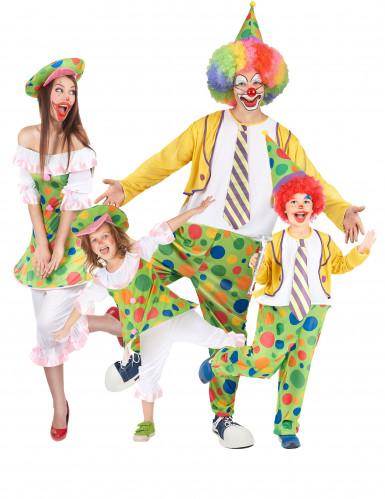 Buntes Clown Kostüm-Set