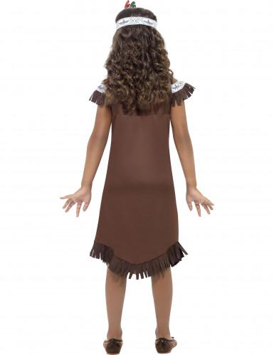 Indianerinnen-Kostüm für Mädchen mit Haarband bunt-1