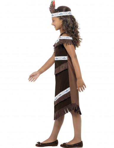 Indianerinnen-Kostüm für Mädchen mit Haarband bunt-2