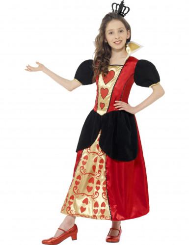 Herzkönigin Kostüm für Mädchen