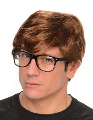 Geheimagent-Perücke mit Brille
