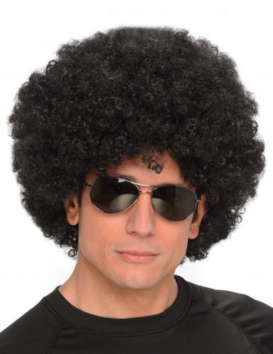 Schwarze Afro-Perücke für Herren