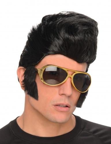 Rockmusiker-Perücke mit Brille