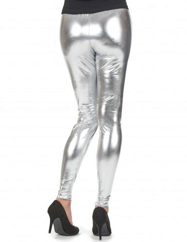 Silberne Leggings für Damen-1