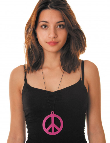 Pinke Hippie-Kette