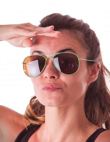 Pilotenbrille neongrün