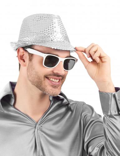 Weiße Blues-Brille für Erwachsene-1