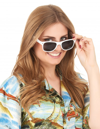 Weiße Blues-Brille für Erwachsene-2