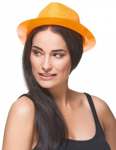 Glitzernder Hut für Erwachsene orangefarben-2