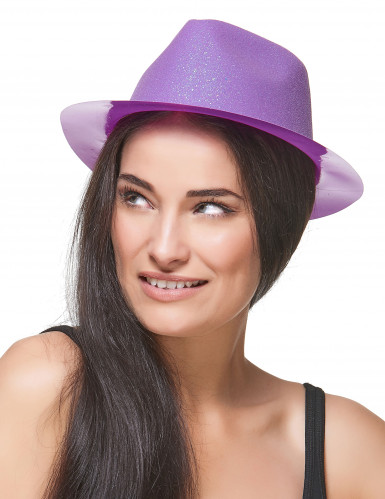 Glitzernder Hut violett-2