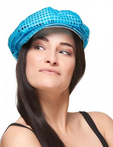 Türkisfarbene Mütze Disco-1