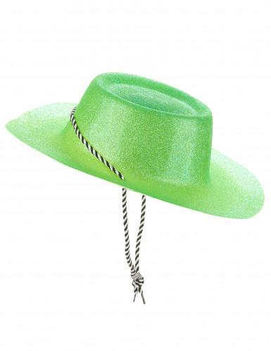 Grüner Cowgirl-Hut