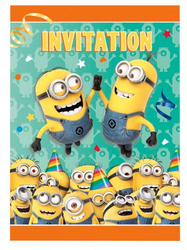 8 Minions™ Einladungskarten