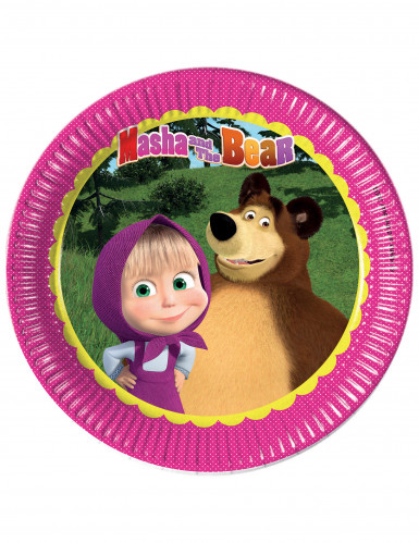 8 Pappteller - Mascha und der Bär™