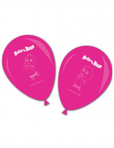8 Luftballons rosa - Mascha und der Bär™