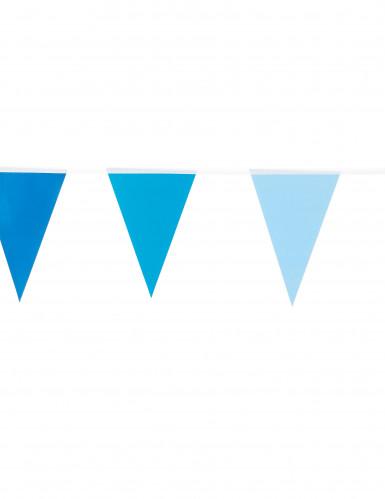 Wimpel-Girlande - klein blau-1